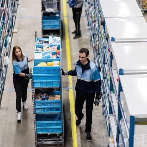 Employee in a Logistics Center Albert Heijn in NETHERLANDS