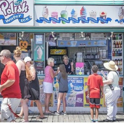 Ice Cream Seller - Ocean City, Maryland